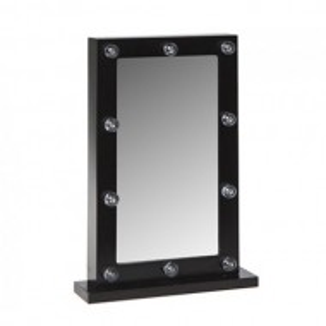 OGN102 - Oglinda masuta de toaleta cu leduri dormitor - Neagra
