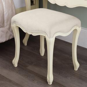 SCC101 - Scaun scaunel taburet tapitat pentru masuta de toaleta machiaj cosmetica - Crem