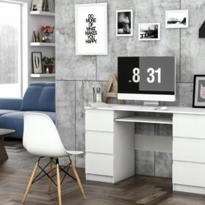 BIA501 - Masa de Birou, office alb mat cu sertare