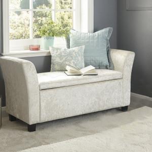 BAC104 - Divan, Canapea, fotoliu, sofa, bancheta, bancuta, banca living, dormitor, hol, lada depozitare - Crem