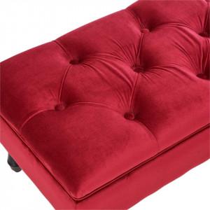 BAN230 - Bancuta 106 cm, bancheta cu lada depozitare, banca living, dormitor, hol - Rosu