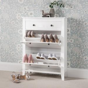 COA119 - Comoda, pantofar, dulap depozitare pantofi pentru hol - Alba