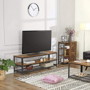 COMI202 - Comoda cu rafturi 70 cm pentru hol, living, dormitor, stil industrial - Maro