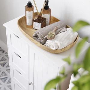 LOTUS8 - Dulap alb, 55 cm, comoda cu 4 sertare si dulap - Mobilier Baie Lotus