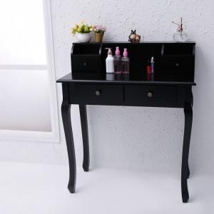 MAN3 - Masa Neagra Toaleta 4 Sertare - Machiaj, Masuta Cosmetica