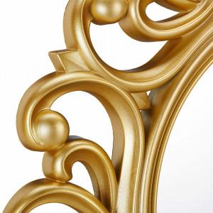 OGAU202 - Oglinda ornamentala 50 cm, pentru perete, dormitor, living, baie - Auriu