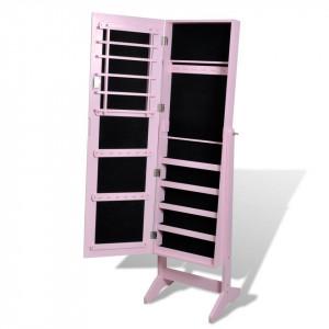 OGP202 - Oglinda caseta de bijuterii, dulap, dulapior dormitor, dressing - Roz