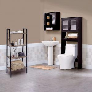 RAI214 - Rafturi birou 60 cm, stil industrial pentru bucatarie, baie, office, living, hol - Maro