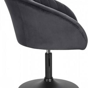 SCA222 - Scaun tapitat pentru masa toaleta, birou, bar, catifea, inaltime reglabila - Gri