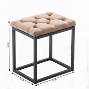 SCA602 - Scaunel tapitat, scaun, taburet masuta, masa toaleta, mahiaj - Alb cu diverse tapiterii