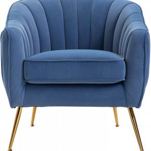 SCAL201 - Fotoliu, scaun masuta toaleta machiaj cosmetica, scaunel, divan tapitat, living, dormitor, dining - Albastru