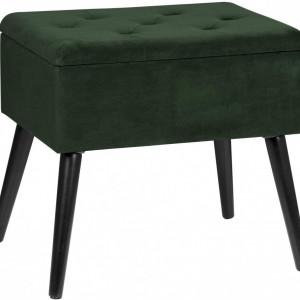 SCN201 - Scaun masuta toaleta machiaj cosmetica, fotoliu, scaunel, divan cu lada - tapiterie catifea - Verde, Gri inchis, Gri deschis, Roz, Mint