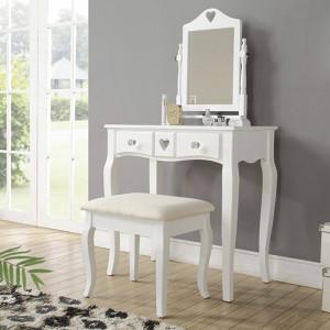 SEA123 - Set Masa alba toaleta cosmetica machiaj oglinda masuta vanity