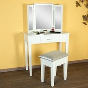 SEA9 - Set Masa alba toaleta cosmetica machiaj oglinda masuta vanity