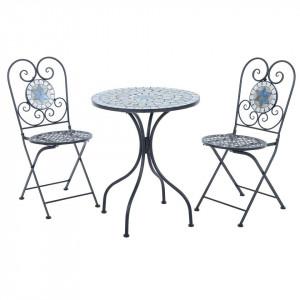 SEGG103 - Set Masa si 2 scaune pliante Mozaic gradina, terasa, balcon - Gri