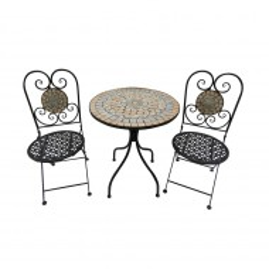 SEGM109 - Set Masa si 2 scaune pliante Mozaic gradina, terasa, balcon - Maro