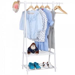 SUA102 - Suport haine si pantofi Dressing, Dormitor - Alb