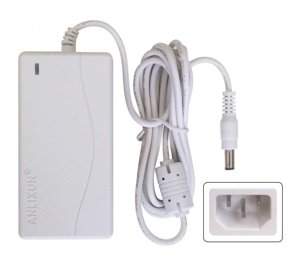 Alimentador 12 volts 1 ampere branco qualidade - Alimentador 12v ...