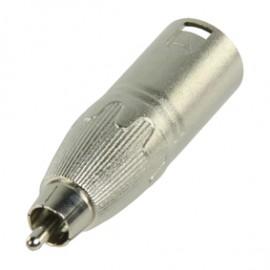 Adaptador XLR Macho - RCA Macho