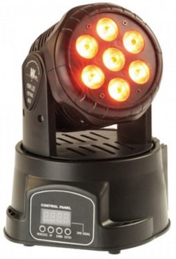 MOVING HEAD 7 LEDS WASH CREE 10W RGBW DMX