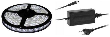 Pack Fita LEDs 6000K 12V (5mts) + Fonte Alimentação 12V 2A