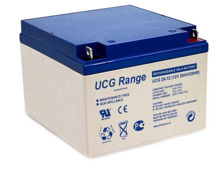 Bateria de Gel 12V 26Ah (175x166x125mm) - Ultracell