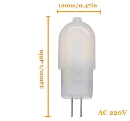 Lâmpada G4 220V 3W Luz Quente