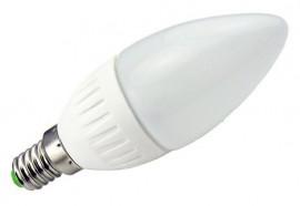 LAMPADA LED OPALINA 220V E14 4W BRANCO F. 6000K