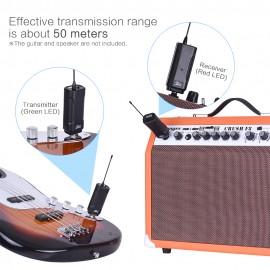 Receptor Transmissor Sem Fios para Guitarra Elétrica Baixo Elétrico Violino Etc