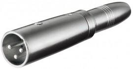 Adaptador XLR Macho / Jack 6,3mm Fêmea Mono