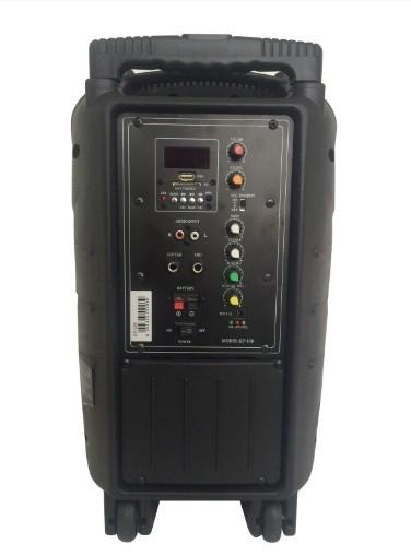 "Coluna Blueooth 10"" Portátil c/ Bateria USB/SD/FM - 200W"