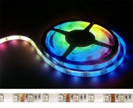 Fita LEDS RGB SMD5050 Flexível IP54 RGB 12V - 5 MTS 300 LEDS