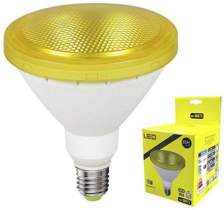 Lampada LED 220V PAR38 E27 15W Amarelo 1200Lm IP65 (Exterior) - EDM