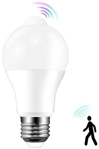 Lampada LED E27 A60 220V 10W Branco F. 6000K 810Lm c/ Sensor Movimento PIR - WELL