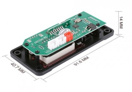 Leitor MP3 USB-MP3/WMA/WAV/FLAC/APE Bluetooth SD Radio FM + Comando