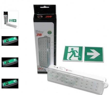 Luz de Emergência 30 LEDs Recarregável
