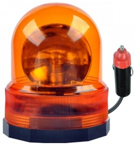 Luz de Emergência Magnética 12V Laranja
