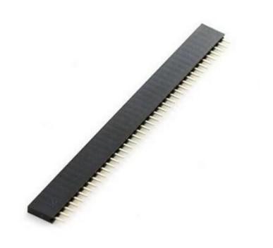 Régua 40 pinos IC 2.54mm 1 x 40 pinos