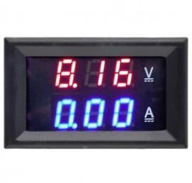 Voltímetro Amperímetro Digital DC 100V 10A