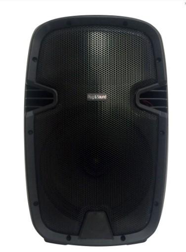 """Coluna Bluetooth Portátil 10"""" de qualidade c/ Bateria USB/SD/FM - 200W"""