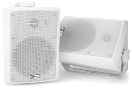 "Colunas Amplificadas 4"" 2 Vias 200W IP55 Wi-Fi e Bluetooth Branco WS40A (Par) - Power Dynamics"