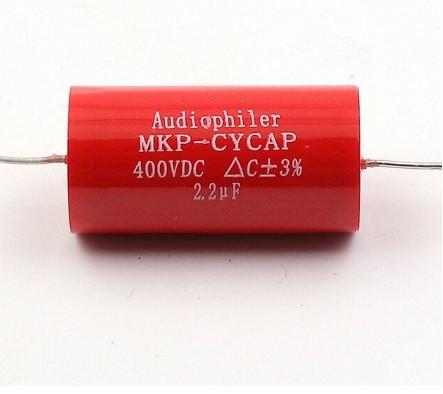 Condensador 2.2 mF 400 V Audiophiler axial mkp alta fidelidade