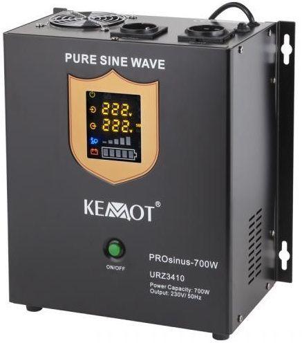 Conversor 12V -> 220V 700W (ONDA PURA) Estabilizador Tensão c/ Função Carregamento Bateria- KEMOT