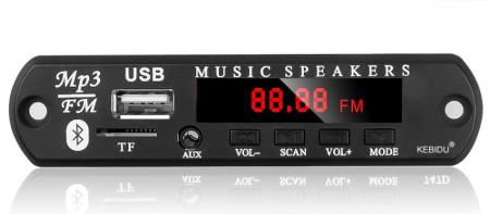 Leitor MP3 USB-MP3/WMA Bluetooth SD Radio FM + Comando