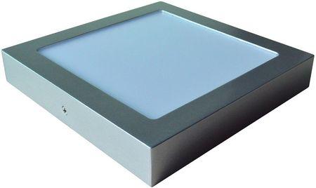 Painel de LED Superficie Quadrado (17,5 x 17,5cm) 12W 6000K 1200Lm - Aço Escovado