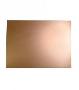 Placa Fibra Vidro Cobre 1 face 1,60mm 10X15 centimetros