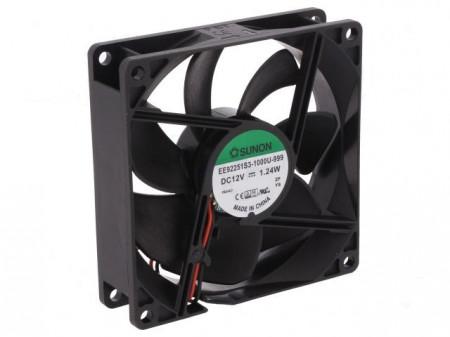 Ventilador 12 VDC - 92 x 92 x 25 mm - Sunon