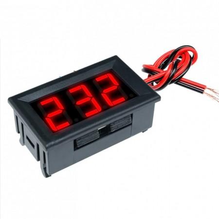 Voltímetro digital de Painel Grande 2.5-30V DC 3 dígitos