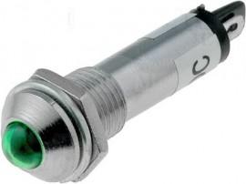 AVISADOR METÁLICO EM LED 12VDC (Ø8,2MM) - várias cores