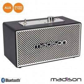 Coluna Bluetooth Portátil VINTAGE 15W Preto MADISON